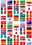 World Cup 2018 Flag Stickers - 65 per sheet